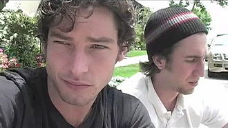 Yousef Abu-Taleb - A screen capture from an episode of lonelygirl15 showing Jackson Davis as Jonas (left) and Yousef Abu-Taleb as Daniel.