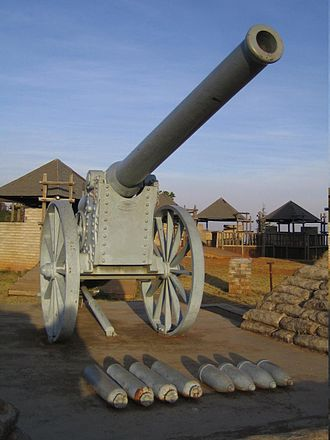 Battle of Ladysmith - Replica of the 155 mm Creusot Long Tom gun.