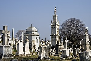 Loudon Park Cemetery - The central portion of the Cemetery