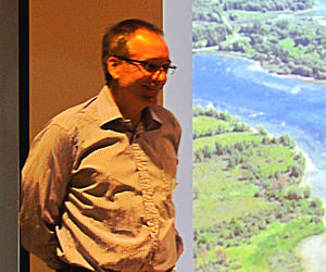 Louis Helbig - At presentation about Sunken Villages along the St. Lawrence River