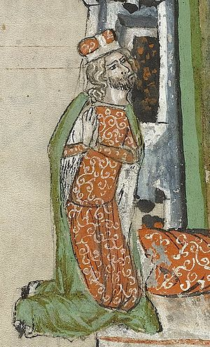 Louis I of Brzeg - Duke Louis praying, Hedwig Codex (1353)
