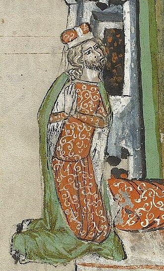 Louis I of Brzeg - Duke Louis praying, Hedwig Codex (1353)