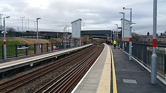 Low Moor railway station - Low Moor station on the day of re-opening