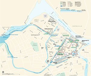 Lowell National Historical Park - Official Map of the Lowell National Historical Park