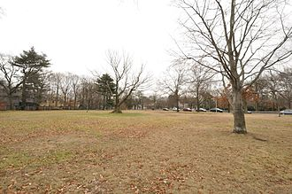 Elmwood (Cambridge, Massachusetts) - Lowell Park; Elmwood is visible in the distance
