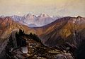 Lower Yellowstone mountain range, Wyoming. Colour lithograph Wellcome V0025225.jpg