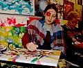 Lucia Jantos Kunstmalerin und Synchronsprecherin Tollwood Munich.JPG