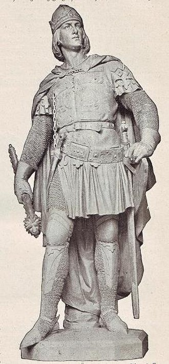 Louis V, Duke of Bavaria - Statue by Ernst Herter, 1899, part of the former Siegesallee in Berlin