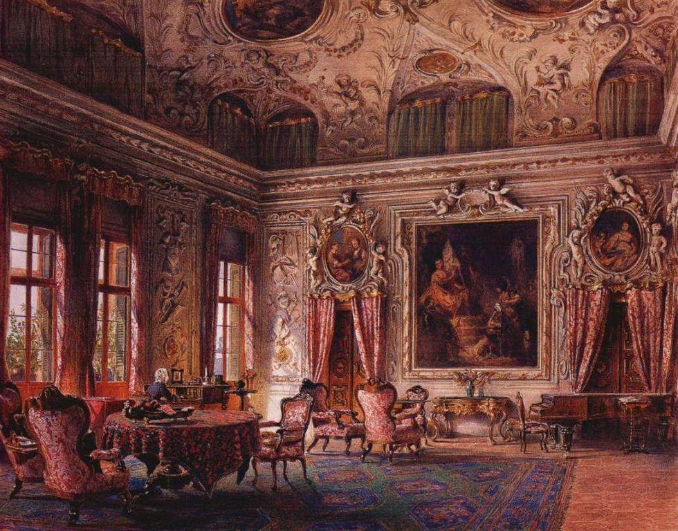 File ludwig passini the salone of the palazzo barbaro for Interni salone