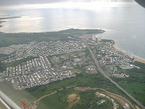 Luquillo, Puerto Rico - Aerial view of Luquillo