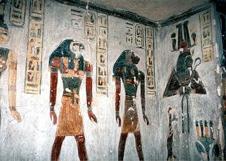 KV11 - Image: Luxor, Tal der Könige, Grab von Ramesses III. (1, 1995, 800x 570)