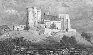 Lympne Castle - Lympne Castle as it appeared ca. 1830. Extensive renovations and additions were carried out subsequent to the making of this view