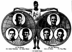 Lynch Cooper - 1930 Lynch Cooper and his challengers as world professional sprinter