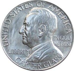 Lynchburg Sesquicentennial half dollar - Obverse