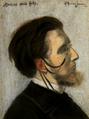 Mérodack-Jeanneau Portrait du compositeur Jean Huré pastel 99.png