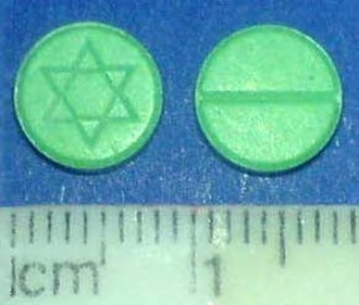 Meta-Chlorophenylpiperazine - Tablets containing mCPP confiscated by the Kriminalpolizei in Europe at the end of 2008.