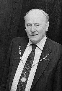 M.W. (Maarten) Schakel , 40 jaar burgemeester van Noordeloos, Hoornaar en Hoogblokland - NL-HaNA Anefo 933-5229 WM574.jpg