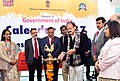 M. Venkaiah Naidu lighting the lamp at the release of the Government of India Calendar-2017 and Press in India Report 2015-16, in New Delhi.jpg