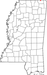Location of Wenasoga, Mississippi