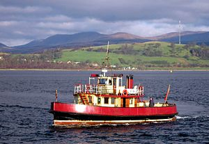 Kenilworth arriving at Gourock pierhead.