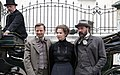 Madame Nobel - film set Vienna May 2014 Birgit Minichmayr Sebastian Koch Philipp Hochmair 1.jpg