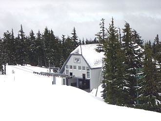Magic Mile - The Magic Mile's lower terminal sits just below the tree line.