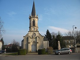 The church in Magny-Montarlot