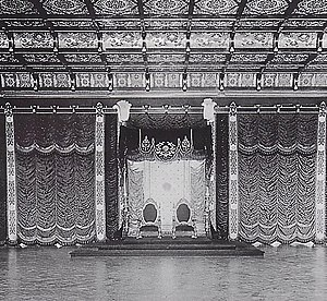 Chrysanthemum Throne - This Meiji period throne room was used by Emperor Hirohito. This room was destroyed in World War II.
