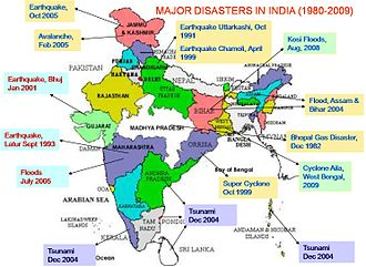 National Disaster Response Force - Major Disasters in India (1980–2009)