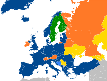 Major NATO affiliations in Europe.svg