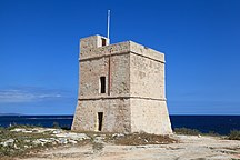 In-Naxxar-Fortifications-Malta - Naxxar - St. Mark's Tower peninsula - St. Mark's Tower 01 ies