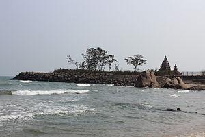 Mamallapuram - Mahabalipuram Shore Temple View from beach