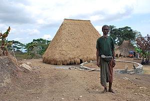 Bunak people - Man in Fatuc Laran, Lactos, Cova Lima District, East Timor, 2009.