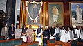 Manmohan Singh, the Speaker, Lok Sabha, Smt. Meira Kumar and other dignitaries paid homage, at the portrait of the former President, Late Dr. Rajendra Prasad on the occasion of his 129th birth anniversary.jpg