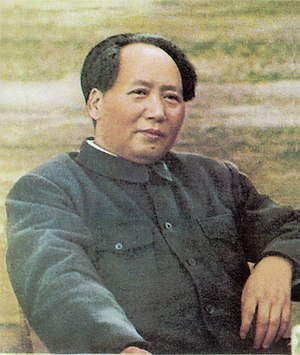 photo of Mao Zedong sitting, published in &quo...