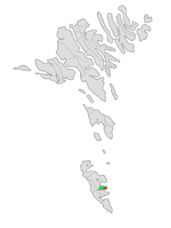 Location of Hovs kommuna in the Faroe Islands