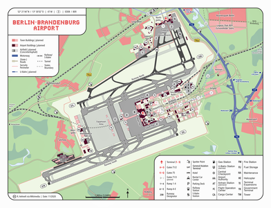 Map of the new Berlin Brandenburg Airport