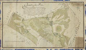 Herznach - Map of Herznachter Bann in Austrian District of Rheinfelden, 1782-1783