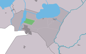 Eesterga - Image: Map NL Lemsterlân Jistergea