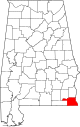 Map of Alabama highlighting Houston County.svg