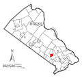 Map of Churchville, Bucks County, Pennsylvania Highlighted.png