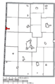 Map of Darke County Ohio Highlighting Union City Village.png