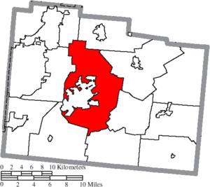 Xenia Township, Greene County, Ohio - Image: Map of Greene County Ohio Highlighting Xenia Township