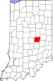 Map of Indiana highlighting Hancock County.svg