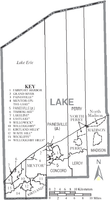 Municipalities and townships of Lake County