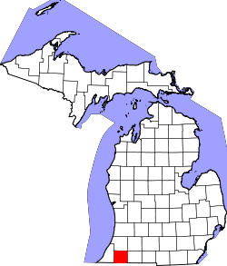Map of Michigan highlighting Cass County.svg
