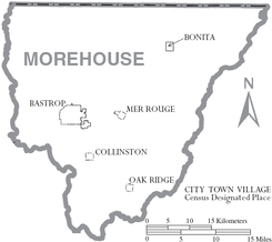 Map of Morehouse Parish Louisiana With Municipal Labels.PNG