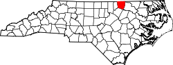 Map of North Carolina highlighting Warren County.svg