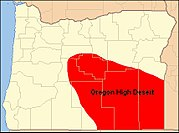 Map of Oregon High Desert Country