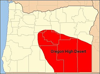 High Desert (Oregon) - Image: Map of Oregon High Desert Country